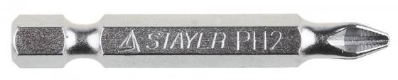 Биты STAYER 26209-2-50-10 хвостовик E 1/4. система NSS. PH №2. 50мм. 10шт цена