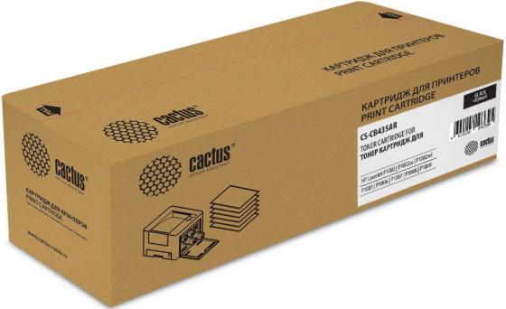 Картридж Cactus CS-CB435AR для HP LJ P1005/P1006 черный 1500стр hp ce252a yellow для lj cp3525cm3530 7000стр