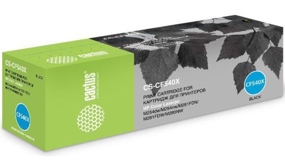 Картридж Cactus CS-CF540X для HP LJ M254dw/M280nw/M281fdn черный 3200стр тонер картридж hp cf540x