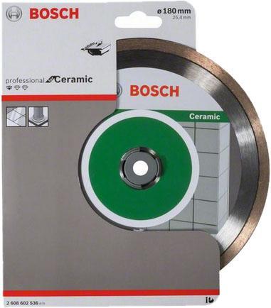 Диск алм. BOSCH Standard for Ceramic 180x25.4 корона (сплошной) (2.608.602.536) 180 Х 25.4 корона ( диск алм bosch standard for ceramic 115x22 корона сплошной 2 608 602 201 115 х 22 корона спло