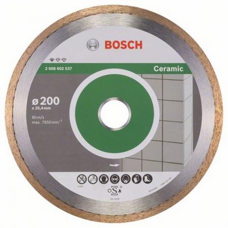 Диск алм. BOSCH Standard for Ceramic 200x25.4 корона (сплошной) (2.608.602.537) 200 Х 25.4 корона (