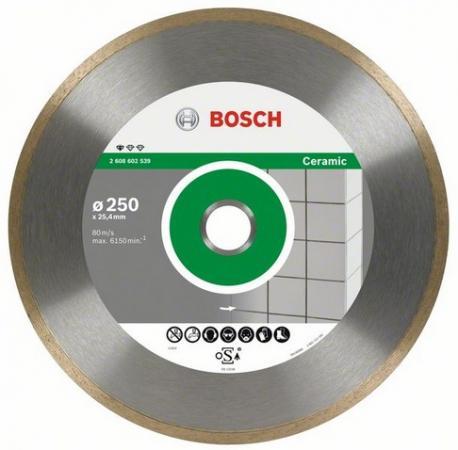 Диск алм. BOSCH Standard for Ceramic 250x25.4/30 корона (сплошной) (2.608.602.539) 250 Х 25.4/30 ко диск алм bosch standard for ceramic 115x22 корона сплошной 2 608 602 201 115 х 22 корона спло