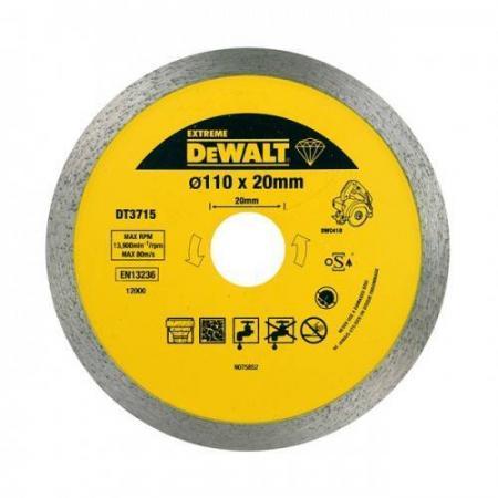 цена на Диск алм. DeWALT DT3715-QZ EXTREME DEWALT® для плиткореза DWC410 110x20x1.6мм