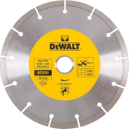 Диск алм. DeWALT DT3721-QZ сегментный универсальный, 180x22.2x2.1мм диск алм dewalt dt3714 qz dewalt® для плиткореза dwc410 110x20x1 6мм