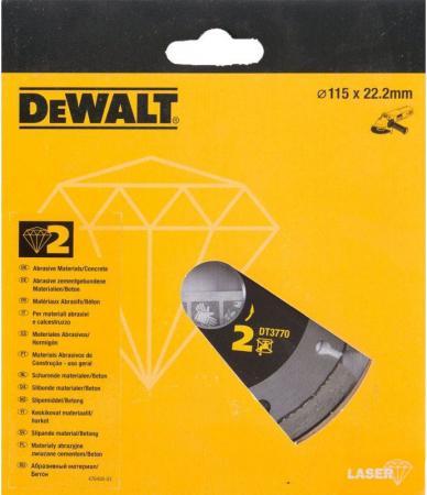 цена на Диск алм. DeWALT DT3770-XJ сегментный по абразивным материалам, 115x22.2x2мм