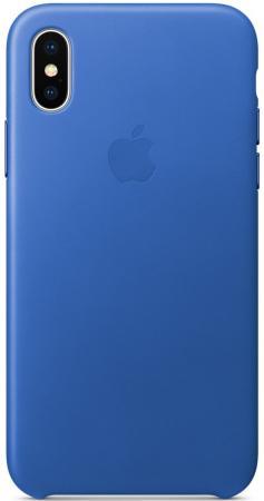 Накладка Apple Leather Case для iPhone X синий MRGG2ZM/A накладка apple leather case для iphone se чёрный mmhh2zm a