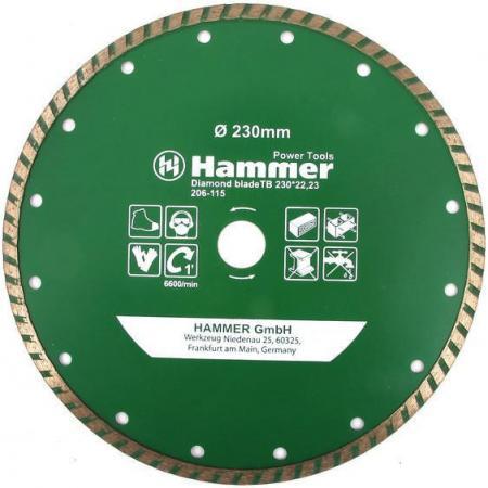 Диск алм. Hammer Flex 206-115 DB TB 230x22мм турбо цена