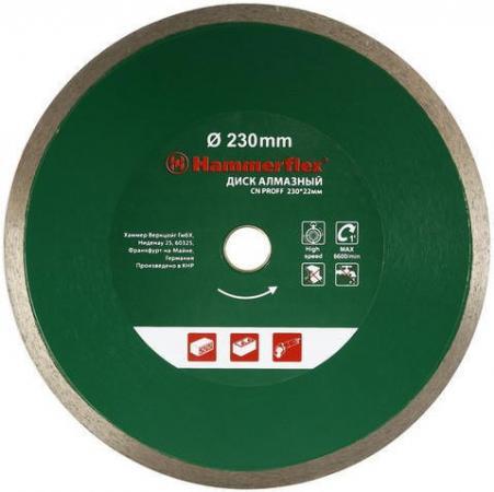Диск алм. Hammer Flex 206-150 DB CN PROFF 230x22мм сплошной ПРОФИ цена