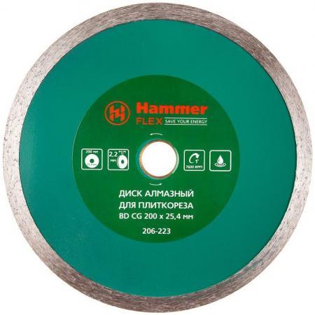 Диск алм. Hammer Flex 206-223 ВD CG 200x25.4мм универсальный диск алмазный hammer 206 105