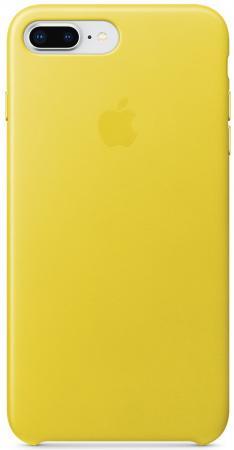 Накладка Apple Leather Case для iPhone 7 Plus iPhone 8 Plus желтый MRGC2ZM/A чехол накладка apple silicone case pollen для iphone 7 plus mq5e2zm a силикон желтый