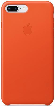 Накладка Apple Leather Case для iPhone 7 Plus iPhone 8 Plus оранжевый MRGD2ZM/A чехол накладка apple leather case geranium для iphone 7 plus mq5h2zm a кожа красный