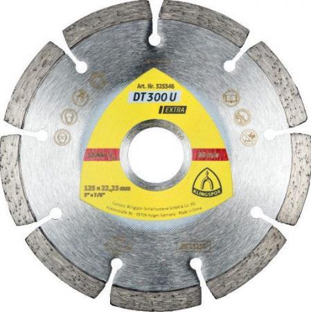 Круг алм. KLINGSPOR DT 300 U EXTRA 125 X 1.6 X 22 (325346) сегментный клт klingspor smt 324 extra 125 x 22 p80 321650 прямой по стали
