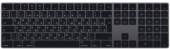 Клавиатура беспроводная Apple Magic Keyboard Bluetooth серый MRMH2RS\\A цена