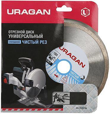 Круг алмазный URAGAN 909-12172-150 сплошной для электроплиткореза 150х25.4мм бур uragan 29311 210 10