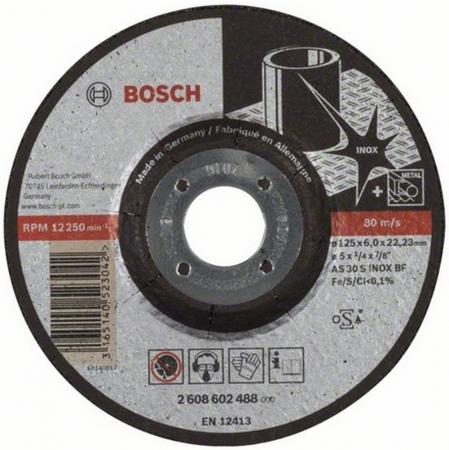 Круг зачистной BOSCH Expert for Inox 125x6x22по нерж. (2.608.602.488) 125 Х 6 Х 22, по нержав.