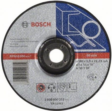 Круг зачистной BOSCH Expert for Metal 180x6x22 (2.608.600.315) 180 Х 6 Х 22, по металлу