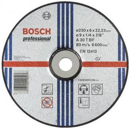 Круг зачистной BOSCH Expert for Metal 230x6x22 (2.608.600.228) 230 Х 6 Х 22, по металлу круг алмазный практика 030 702 da 230 22s 230 х 22 сегментный