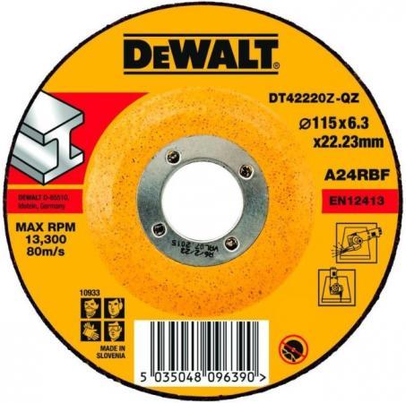 Круг зачистной DEWALT DT42320Z-QZ Ф125х6.3мм по металлу INDUSTRIAL тип 27