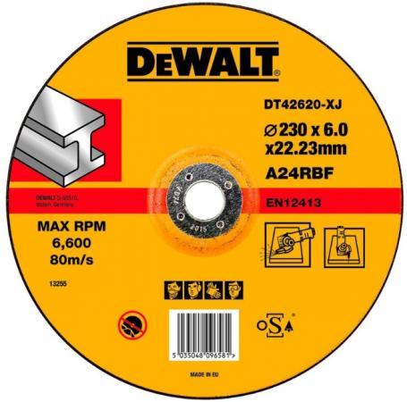Круг обдирочный DeWALT DT42620-XJ по металлу для УШМ 230х22.2х6мм тип 27 изогнутый цена
