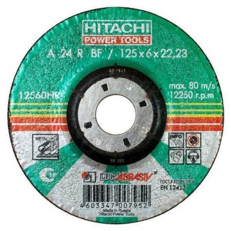 Диск шлифовальный по металлу 14А 27 (125х6х22,2 мм) Hitachi-Луга HTC-12560HR hitachi htc 752272