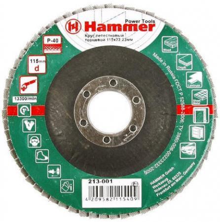 115 Х 22 Р 40 тип 1 КЛТ Hammer Flex 213-001 Круг лепестковый торцевой