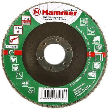 115 Х 22 Р 60 тип 1 КЛТ Hammer Flex 213-002 Круг лепестковый торцевой