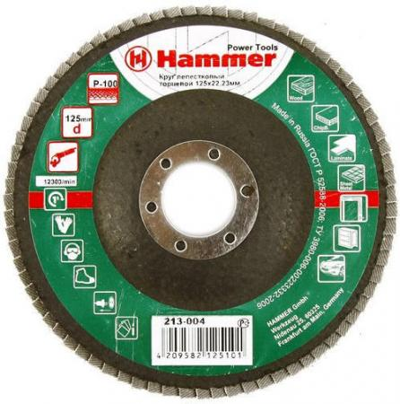 Лепестковый круг 125 Х 22 Р 100 тип 1 КЛТ Hammer Flex 213-004 Круг лепестковый торцевой 125 х 22 р 80 тип 1 клт hammer flex 213 009 круг лепестковый торцевой