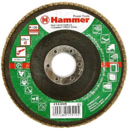 Лепестковый круг 125 Х 22 Р 120 тип 1 КЛТ Hammer Flex 213-005 Круг лепестковый торцевой 125 х 22 р 80 тип 1 клт hammer flex 213 009 круг лепестковый торцевой