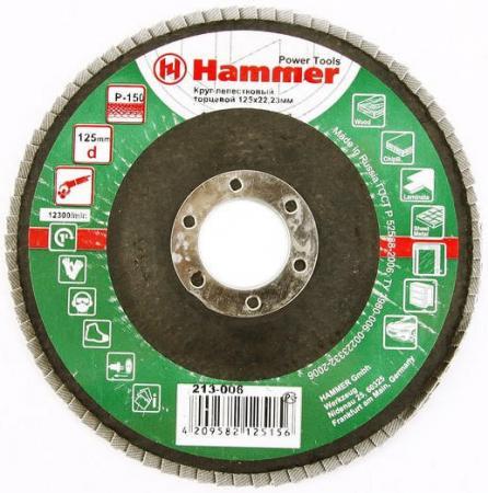 цена на 125 Х 22 Р 150 тип 1 КЛТ Hammer Flex 213-006 Круг лепестковый торцевой