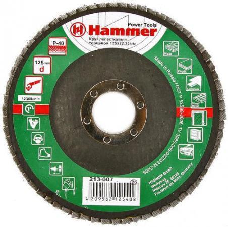 Лепестковый круг 125 Х 22 Р 40 тип 1 КЛТ Hammer Flex 213-007 Круг лепестковый торцевой roomble latitude flex shelf set 213