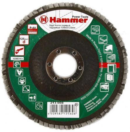 Лепестковый круг 125 Х 22 Р 60 тип 1 КЛТ Hammer Flex 213-008 Круг лепестковый торцевой 125 х 22 р 80 тип 1 клт hammer flex 213 009 круг лепестковый торцевой
