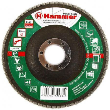 125 Х 22 Р 80 тип 1 КЛТ Hammer Flex 213-009 Круг лепестковый торцевой