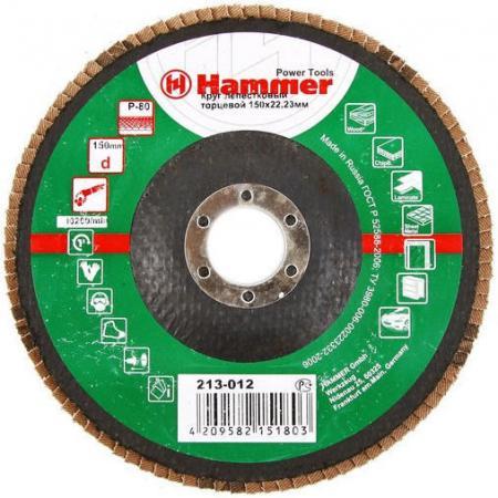 150 Х 22 Р 80 тип 1 КЛТ Hammer Flex 213-012 Круг лепестковый торцевой
