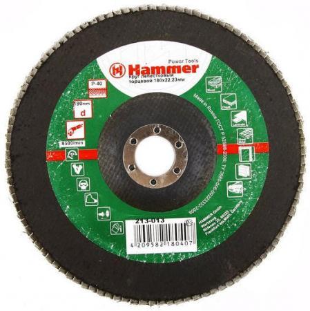 Лепестковый круг 180 Х 22 Р 40 тип 1 КЛТ Hammer Flex 213-013 Круг лепестковый торцевой 125 х 22 р 120 тип 1 клт hammer flex 213 005 круг лепестковый торцевой