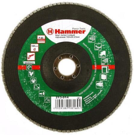 180 Х 22 Р 60 тип 1 КЛТ Hammer Flex 213-014 Круг лепестковый торцевой