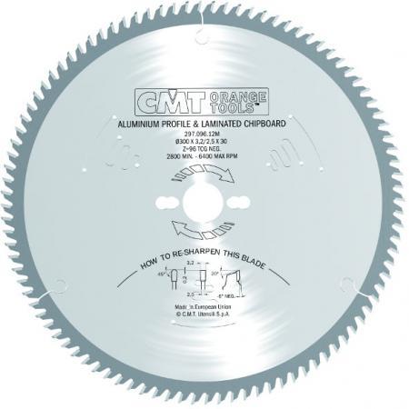 Круг пильный твердосплавный CMT 297.096.12M 300X30X3.2/2.5 -6° TCG Z=96 диск пильный твердосплавный cmt 293 028 12m