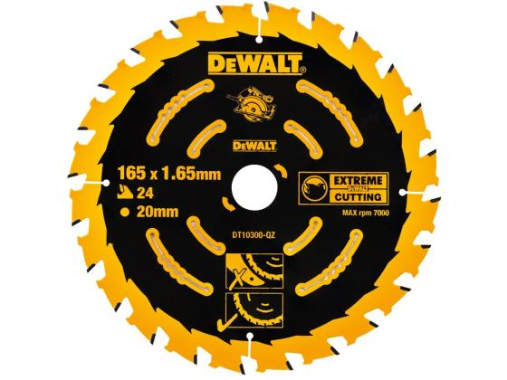 Купить Круг пильный твердосплавный DeWALT DT10300-QZ по дереву EXTREME DEWALT® 165/20 1.65 24 WZ +18°