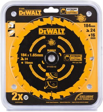 Купить Круг пильный твердосплавный DeWALT DT10302-QZ по дереву EXTREME DEWALT® 184/16 1.65 24 WZ +18°