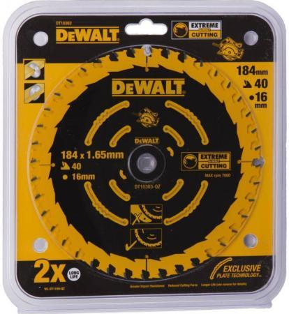 Купить Круг пильный твердосплавный DeWALT DT10303-QZ по дереву EXTREME DEWALT® 184/16 1.65 40 WZ +18°