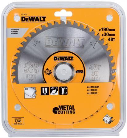 Круг пильный твердосплавный DEWALT DT1912-QZ Ф190/3048 TCG -5° EXTREME по алюминию