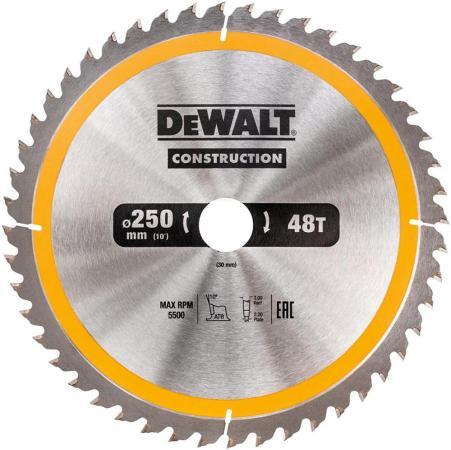 Круг пильный твердосплавный DEWALT DT1945-QZ Ф190/30 40 ATB +10° CONSTRUCTION по дереву с гвоздями пильный диск construct 305х30 мм 48 atb dewalt dt1959