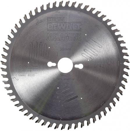 Круг пильный твердосплавный DEWALT DT4217-QZ Ф250/30 60 HZ 10° EXTREME по ламинату