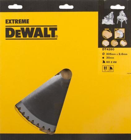Купить Круг Пильный Твердосплавный Dewalt Dt4260-Qz По Дер./алюм. Extreme Dewalt®305/30 1.8/2.6 60 Wz -5°