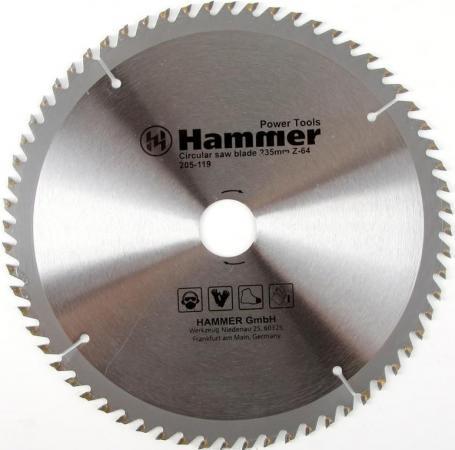 Купить Диск пильный Hammer Flex 205-119 CSB WD 235мм*64*30/20мм по дереву