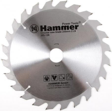 Диск пильный Hammer Flex 205-126 CSB WD 250мм*24*32/30мм по дереву цена 2017