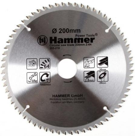 цена на Диск пильный Hammer Flex 205-210 CSB PL 200мм*64*30/20мм по ламинату
