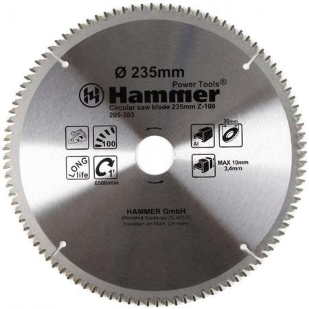 Диск пильный Hammer Flex 205-303 CSB AL 235мм*100*30мм по алюминию цена 2017