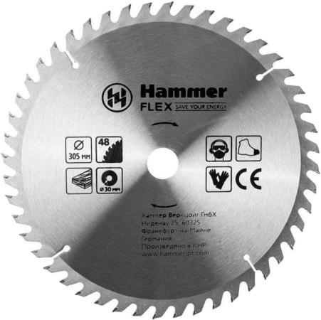Пильный диск Hammer Flex 205-132 CSB WD 305*48*30мм по дереву цена 2017