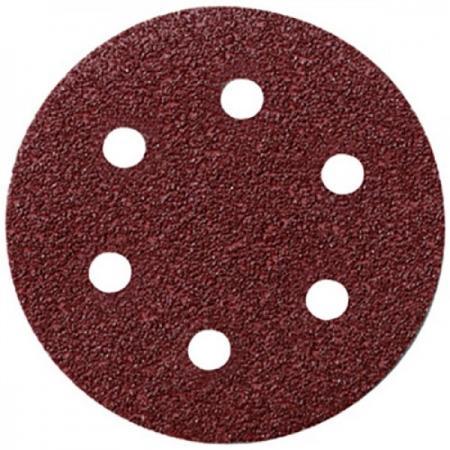 Круг шлифовальный FIT 39662 с отверстиями 5шт алюм.-оксид. 125мм с липучкой (р40) диск шлифовальный с липучкой fit 125 мм