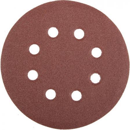 Круг фибровый STAYER MASTER 35452-125-120 8 отверстий велкро P120 125мм 5шт. абразивный круг velcro dexter p120 8 отверстий d180 мм